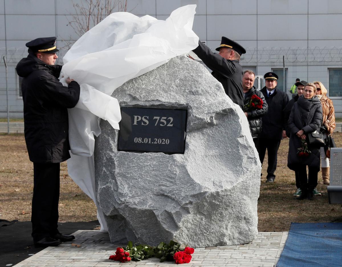 Открытие памятного знака жертвам трагедии рейса PS752 / REUTERS