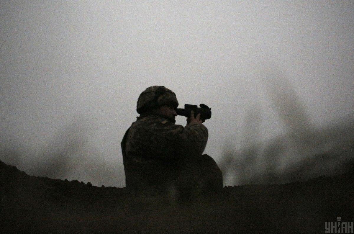 Українські військовослужбовці відповідали прицільним вогнем по опорних пунктах противника \ УНІАН