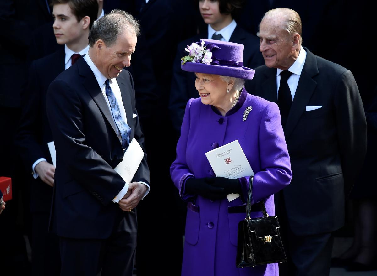 Королева Єлизавета ІІ, принц Філіпп і Девід Армстронг-Джонс / фото REUTERS