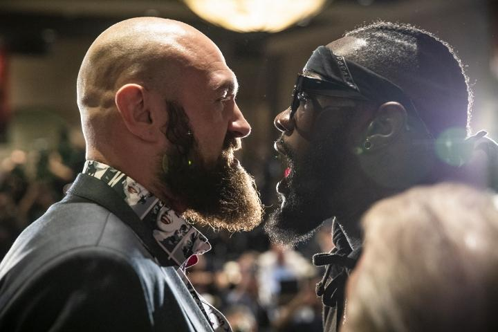 Тайсон Ф'юрі і Деонтей Вайлдер зустрічалися в рингу вже два рази / фото Boxingscene