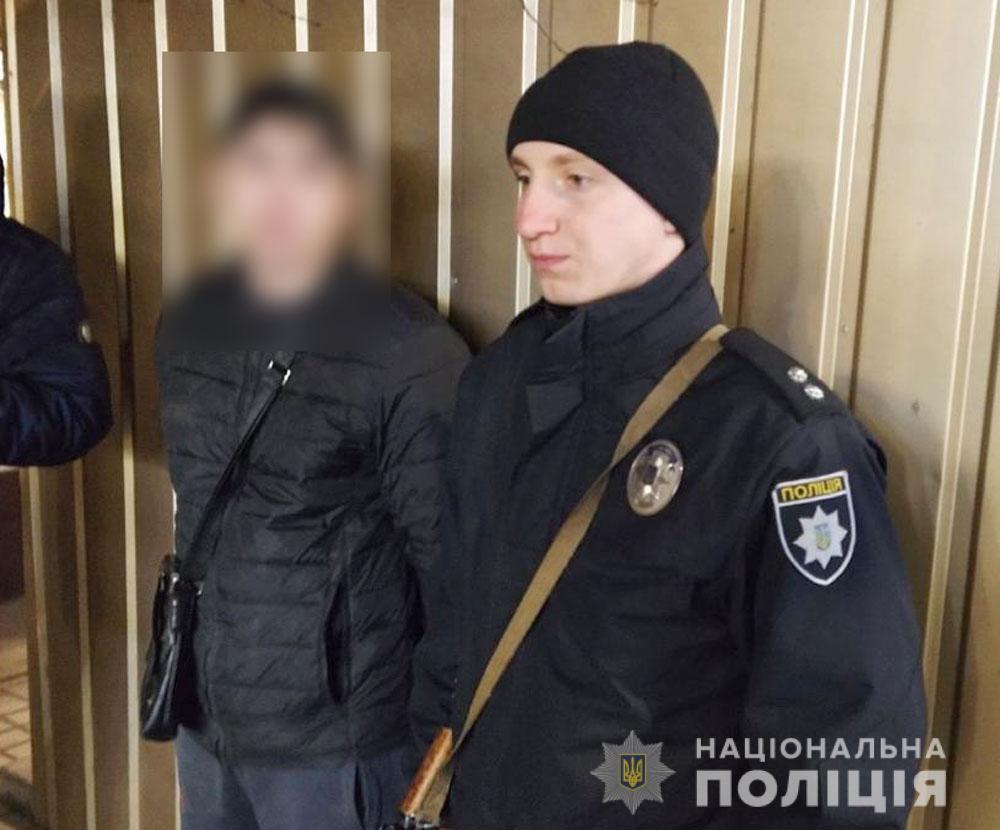 Поліція затримала імовірного підозрюваного / Фото: Нацполіція