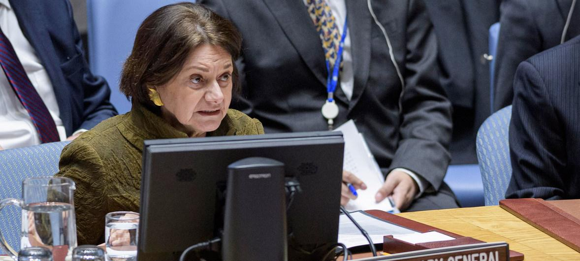 Розмари Дикарло выступила в Совете Безопасности ООН / фото ООН/М.Элиас