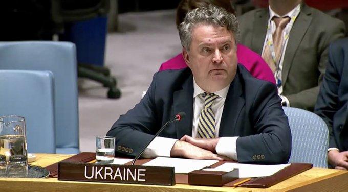 Сергей Кислица принял участие в заседании Совета безопасности ООН / фото twitter.com/UKRinUN