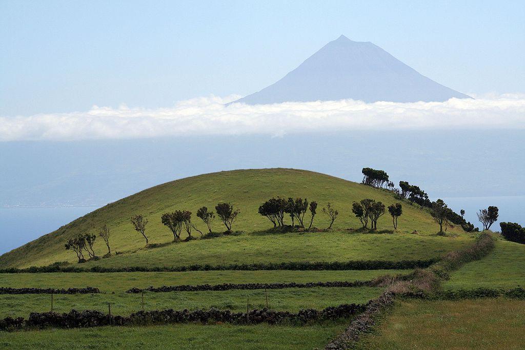 Азорский пейзаж на фоне горы Пику - это стоит увидеть / Фото ru.wikipedia.org/