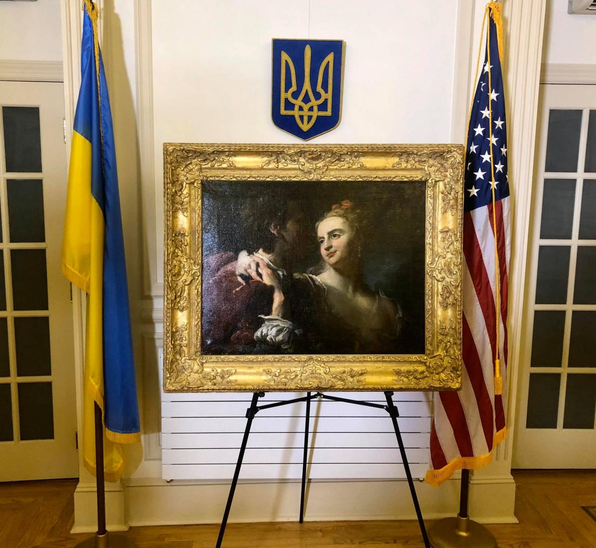 Во времена Второй мировой войны картина была украдена из Киевского национального музея Ханенков / фото facebook.com/UKRinUN