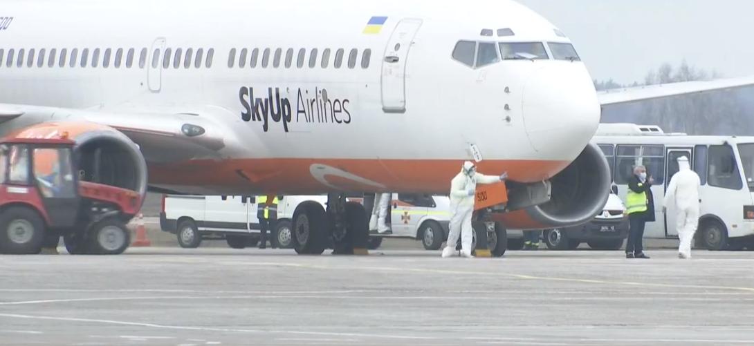Самолет из Уханя все же прилетел в Киев /Скриншот