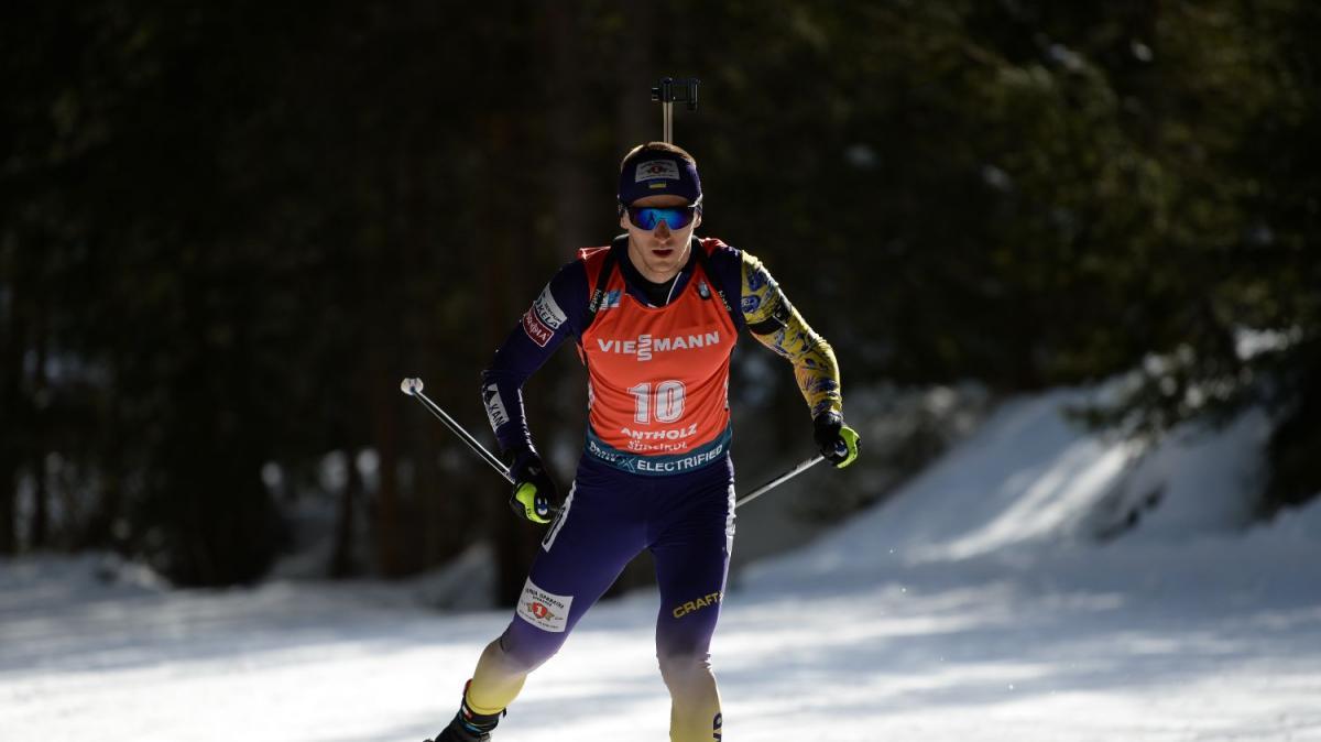 Дмитрий Пидручный стал лучшим среди украинцев / фото biathlon.com.ua