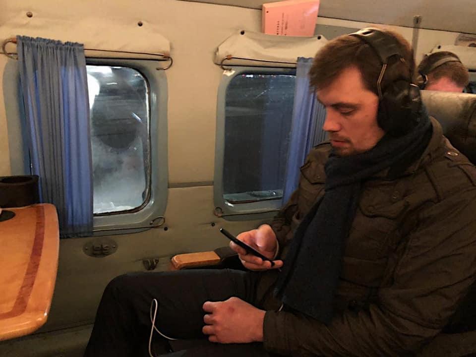 Гончарук вилетів до Полтавської області/ фото facebook.com/PMHoncharuk