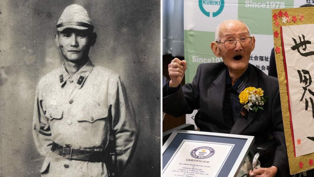 112-летний Титецу Ватанабэбыл старейшим мужчиной на Земле / guinnessworldrecords.es