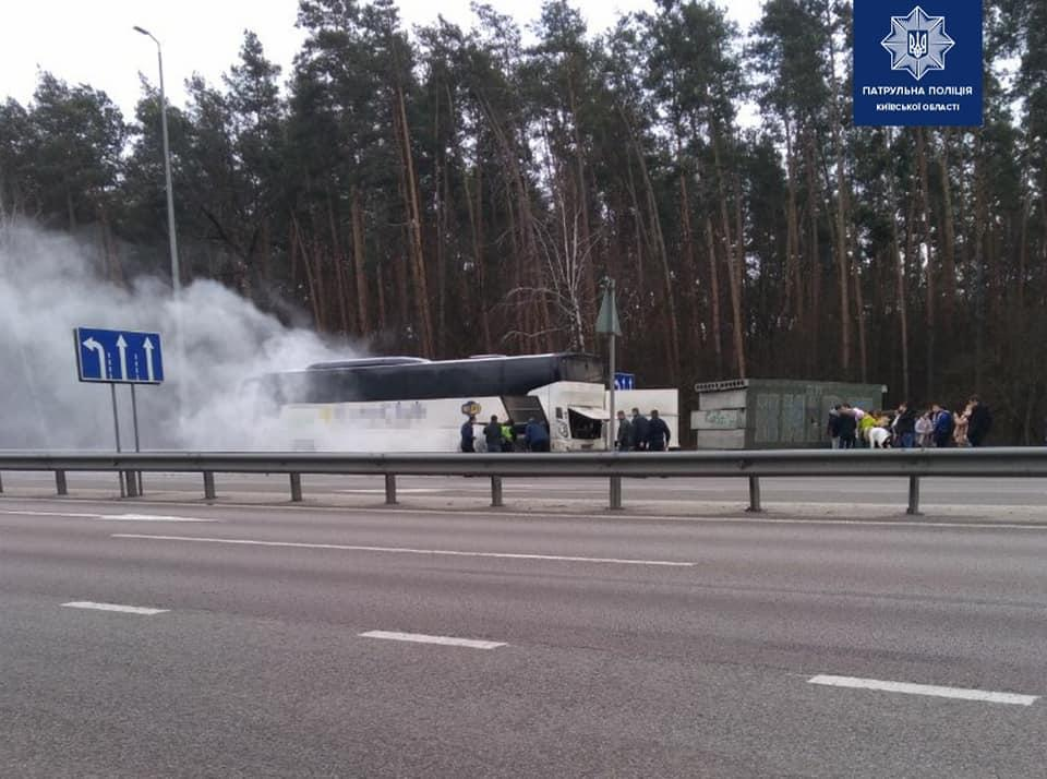 Никто из пассажиров не пострадал / facebook.com/kyivregionpatrolpolice