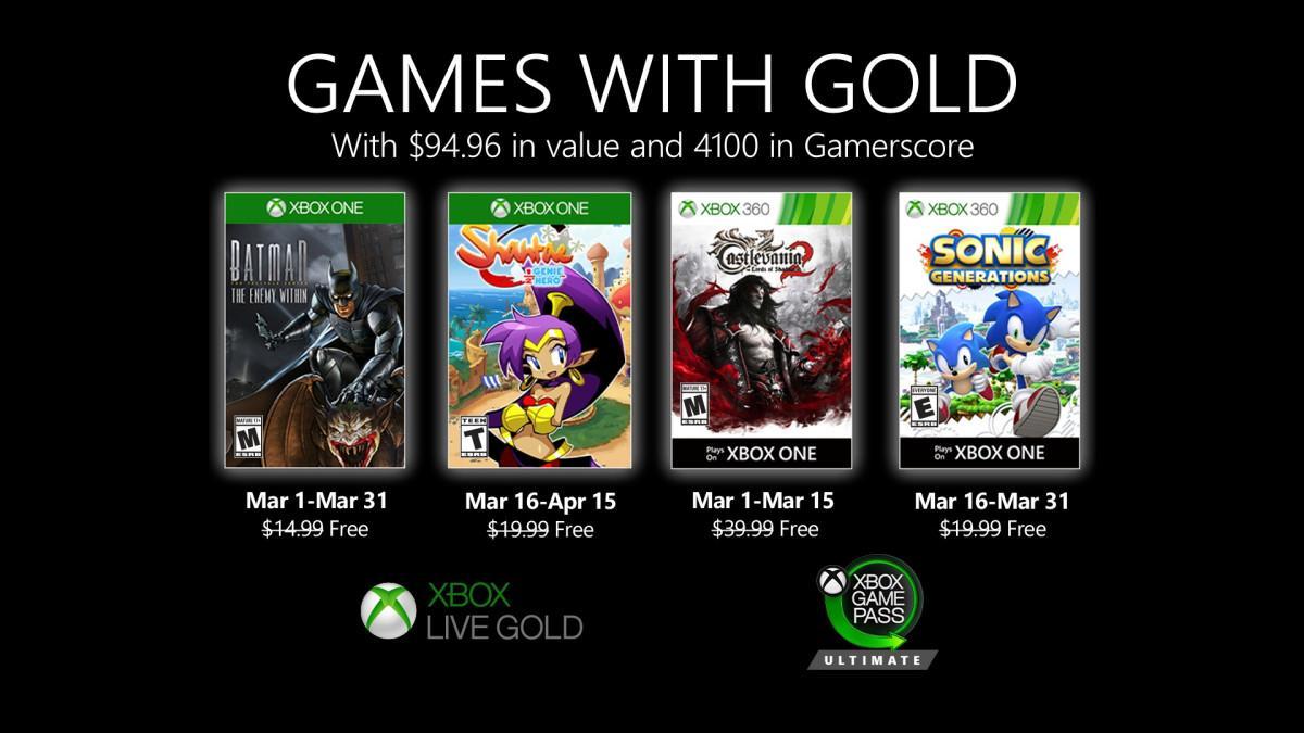 Игры марта для подписчиков сервиса Xbox Live Gold / news.xbox.com