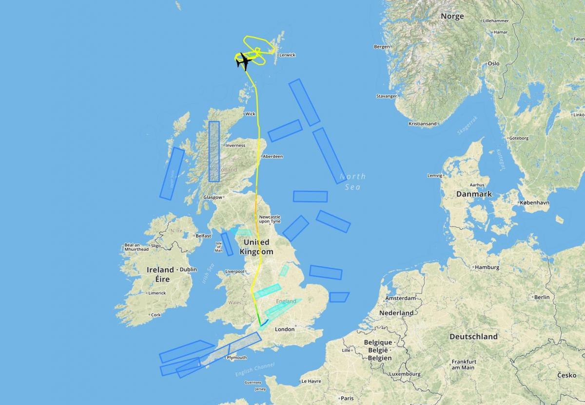 Российский Ту-95 заметили на запад от Норвегии / airlive.net