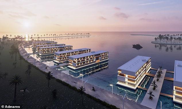 Для футбольных фанатов в Катаре построят вот такие плавучие отели / Фото dailymail.co.uk / Admares