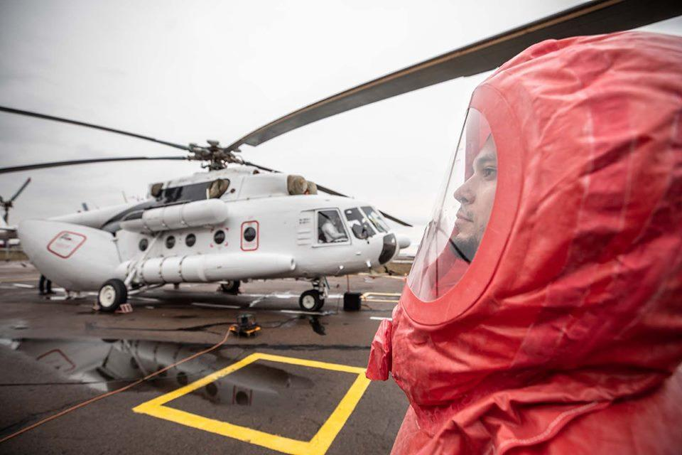 Санитарный вертолет МИ-8 выведенна круглосуточное дежурство / Фото: МВД Украины