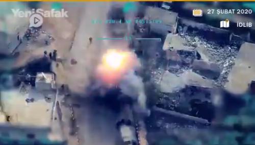 В сети появилось видео бомбардировок/ скриншот