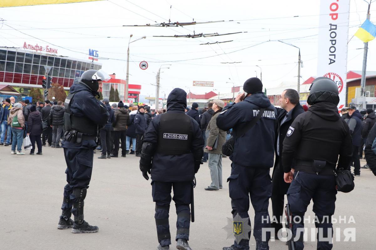 """После событий на """"Барабашово"""" задержаны более полусотни человек / Фото: Нацполиция"""