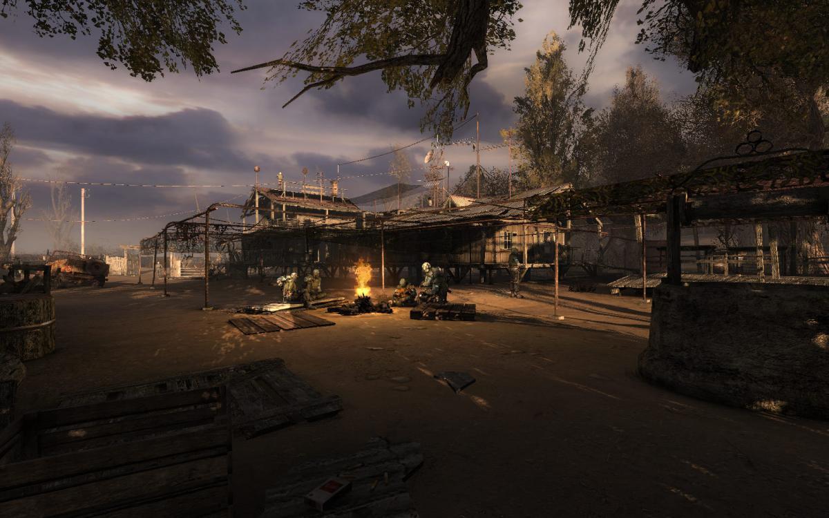 Посиденьки біля вогнища в STALKER - чого тут тільки не наслухаєшся / скриншот
