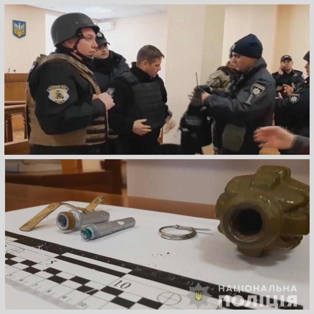 Задержанный угрожал муляжом боевой гранаты Ф-1/ фото НПУ
