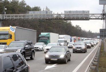 Въезды в Киев заблокированы из-за протестов дальнобойщиков (фото, видео)