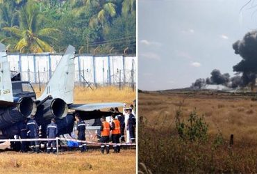 В Индии разбился очередной российский истребитель Миг-29К (видео)