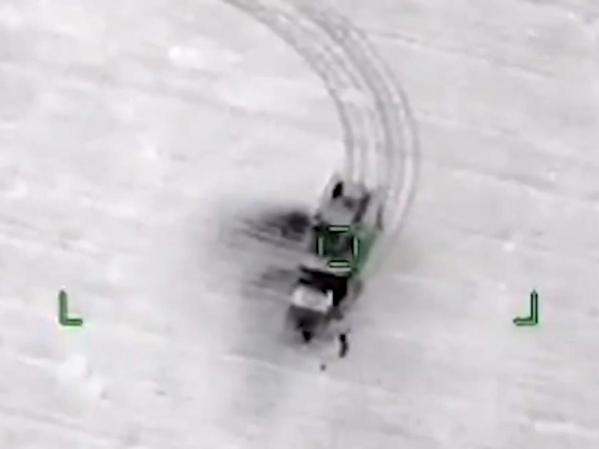 Уничтожение военной техники произошло ночью 3 марта/ скриншот из видео