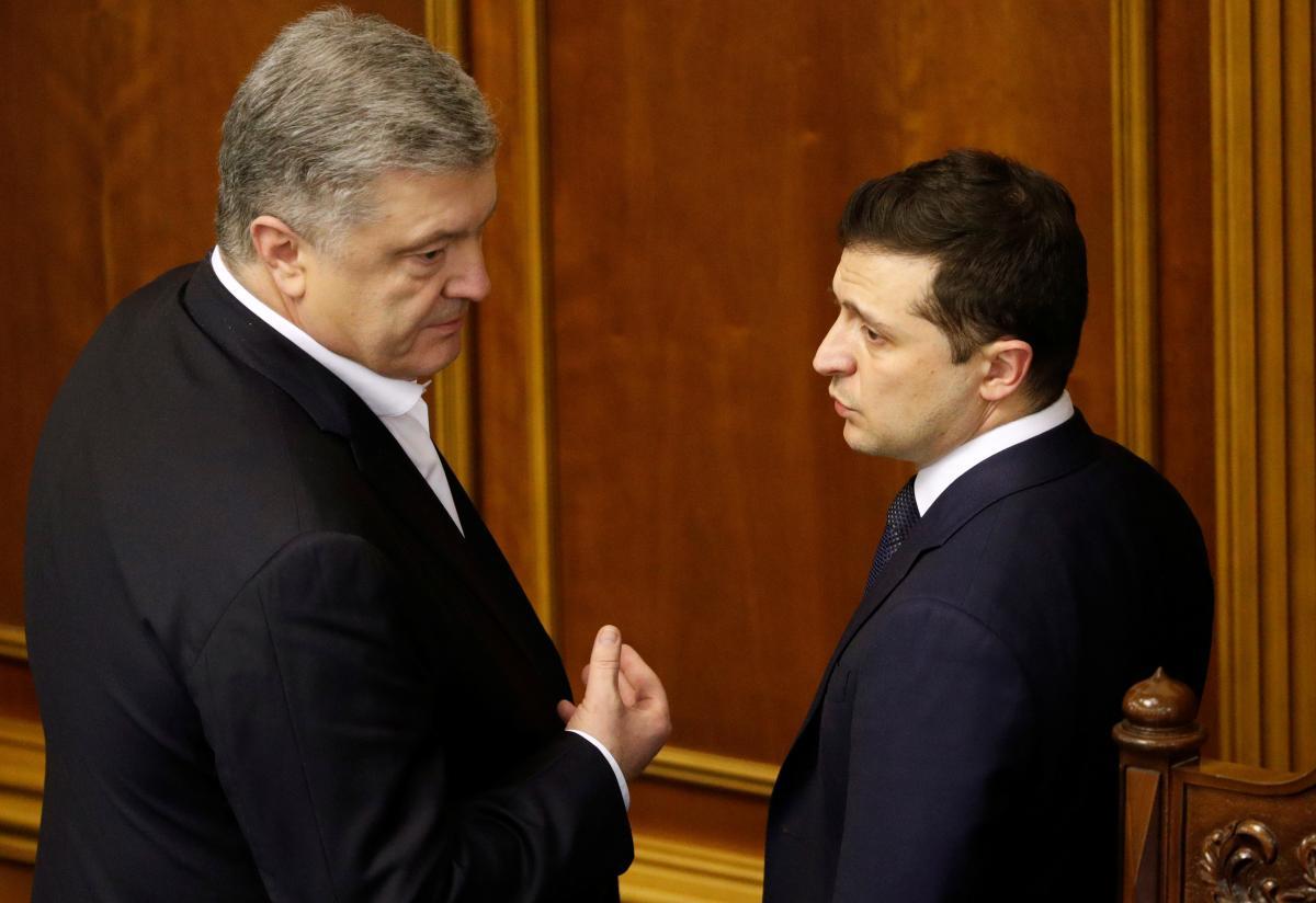 Владимир Зеленски и Петр Порошенко / фото REUTERS
