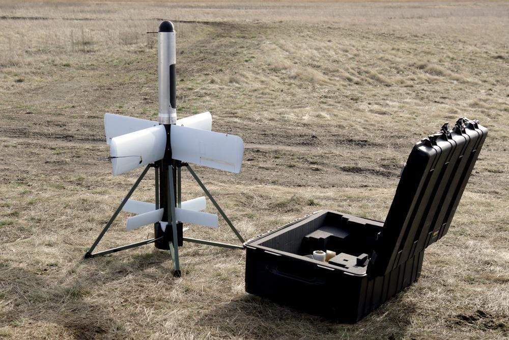 Барражирующийбоеприпас «Гром» ST-35 перед запуском / фото АрміяInform