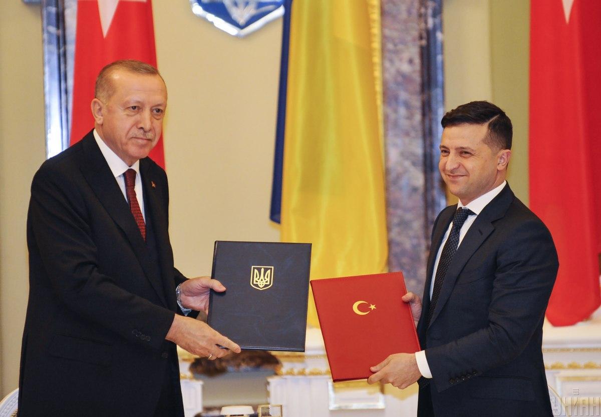 Реджеп Тайип Эрдоган и Владимир Зеленский / фото УНИАН