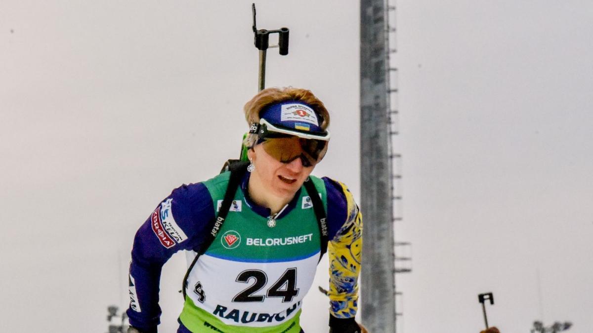 Пидгрушную подвела стрельба / фото: biathlon.com.ua