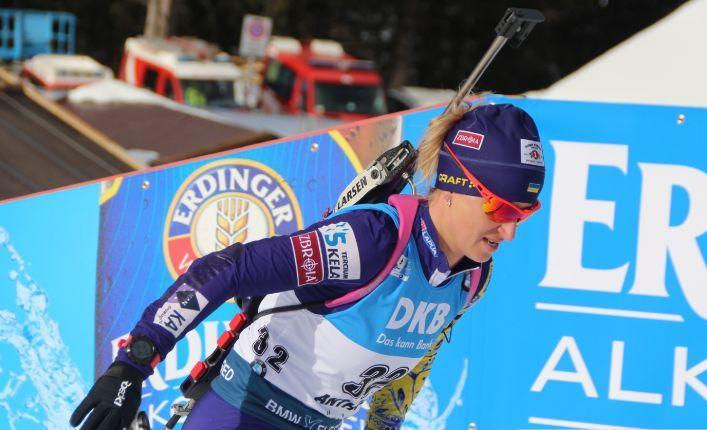 Валентина Семеренко допустила три промаха / фото: biathlon.com.ua