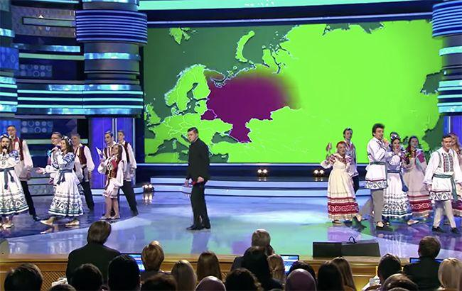 КВН показал Крым частью Украины / скриншот с видео