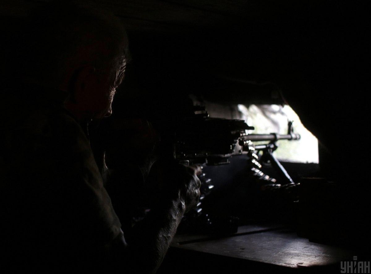 Украинские военные открывали ответный огонь / фото УНИАН