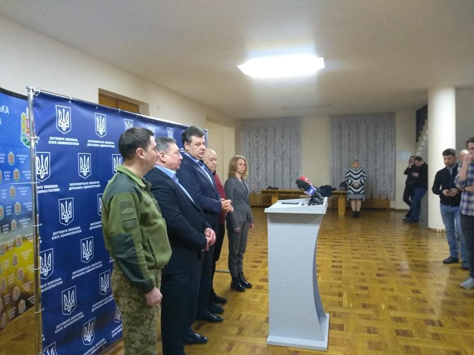 В Житомирской ОГА провели брифинг по коронавирусу / фото УНИАН