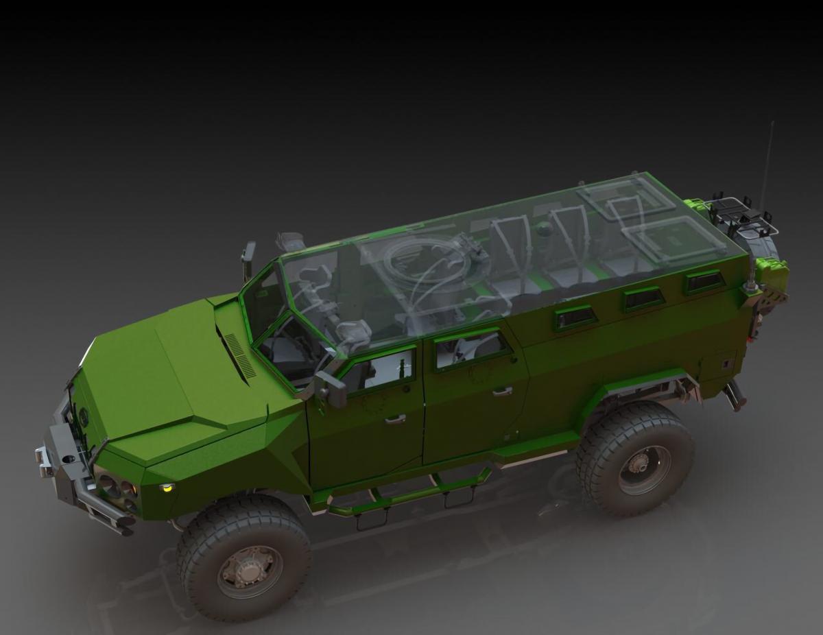 Броневик предназначен для перевозки до 10 военных в условиях жесткого бездорожья / ukrarmor.com