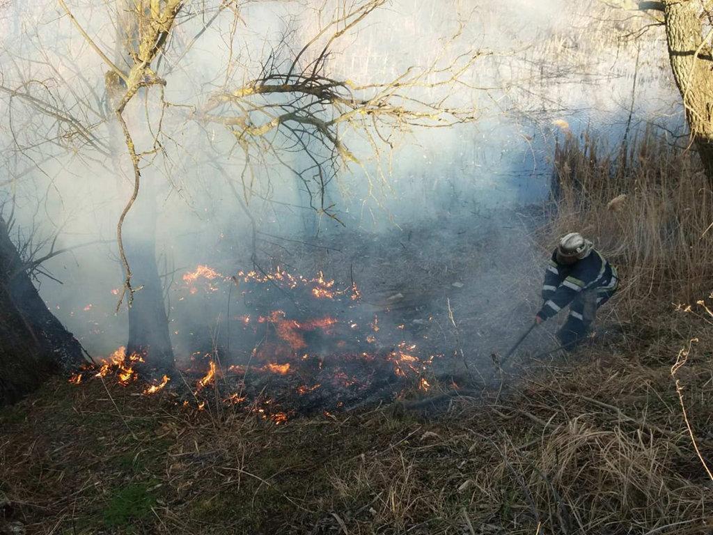 Рятувальники просять не спалювати траву \ прес-служба ДСНС в Дніпропетровській області