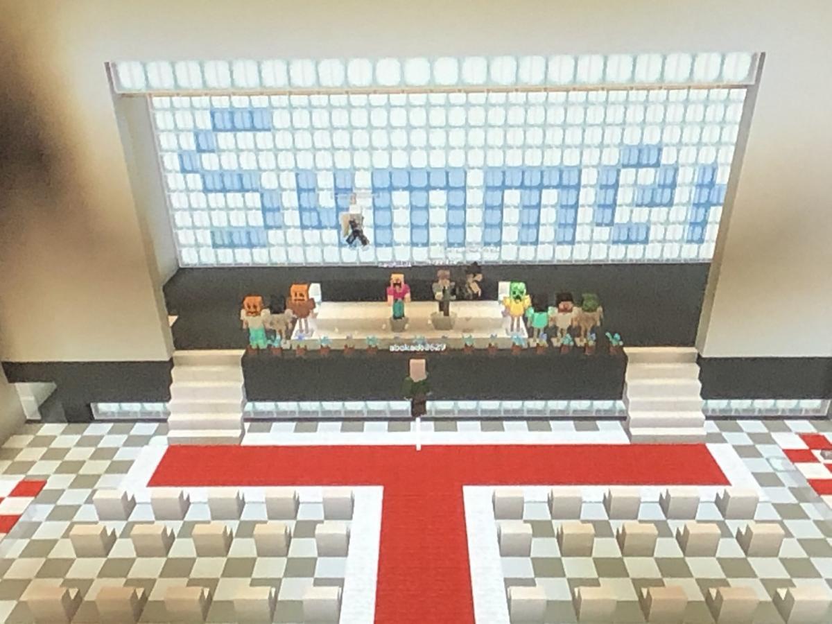 Японские школьники провели выпускной в Minecraft / twitter.com/backyennew