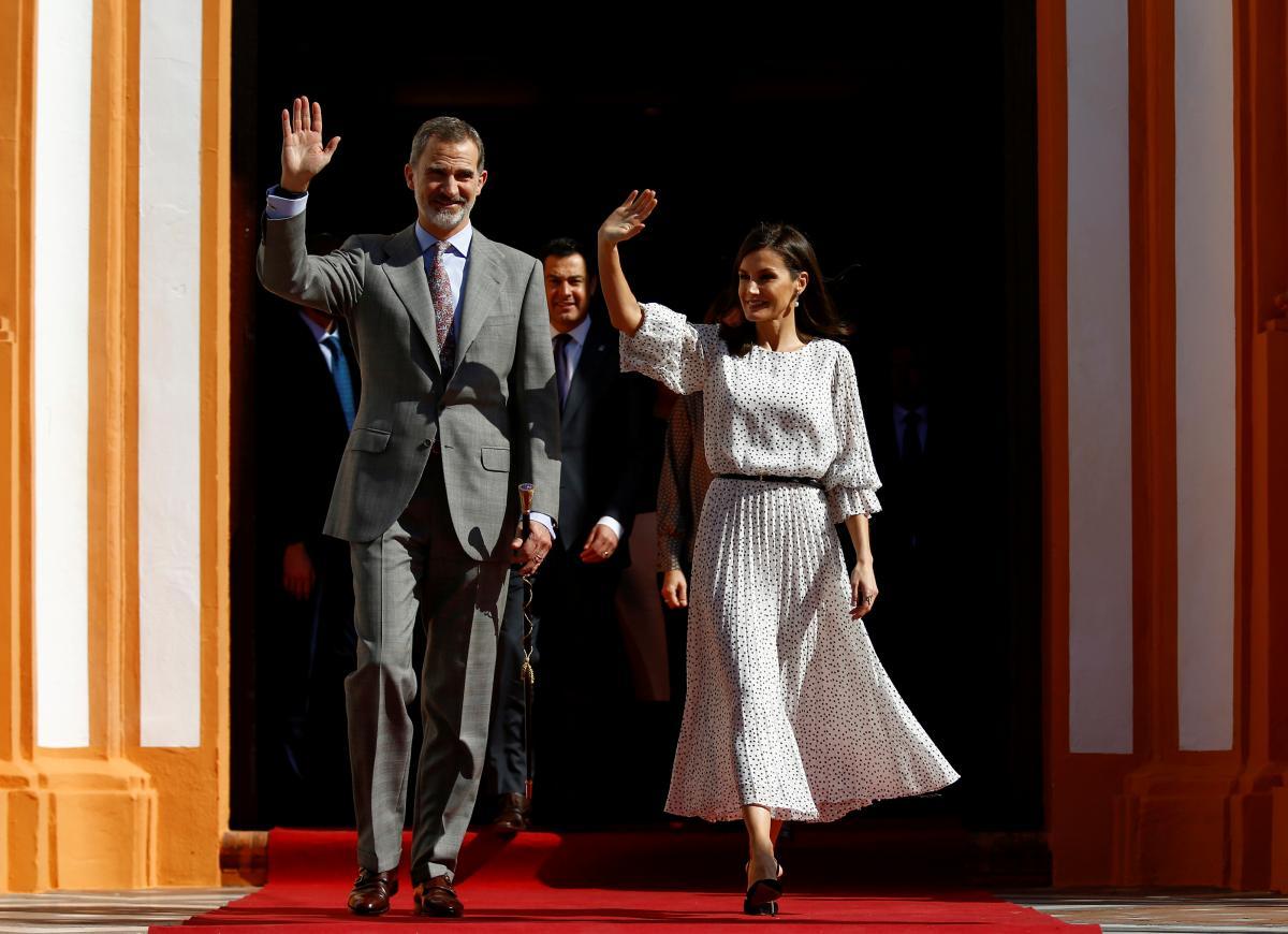 Королева Летиция и король Филипп VI / фото REUTERS