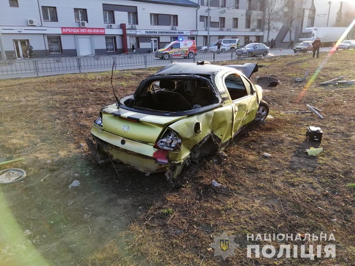 Пострадали пять человек и несколько автомобилей /Фото: Нацполиция