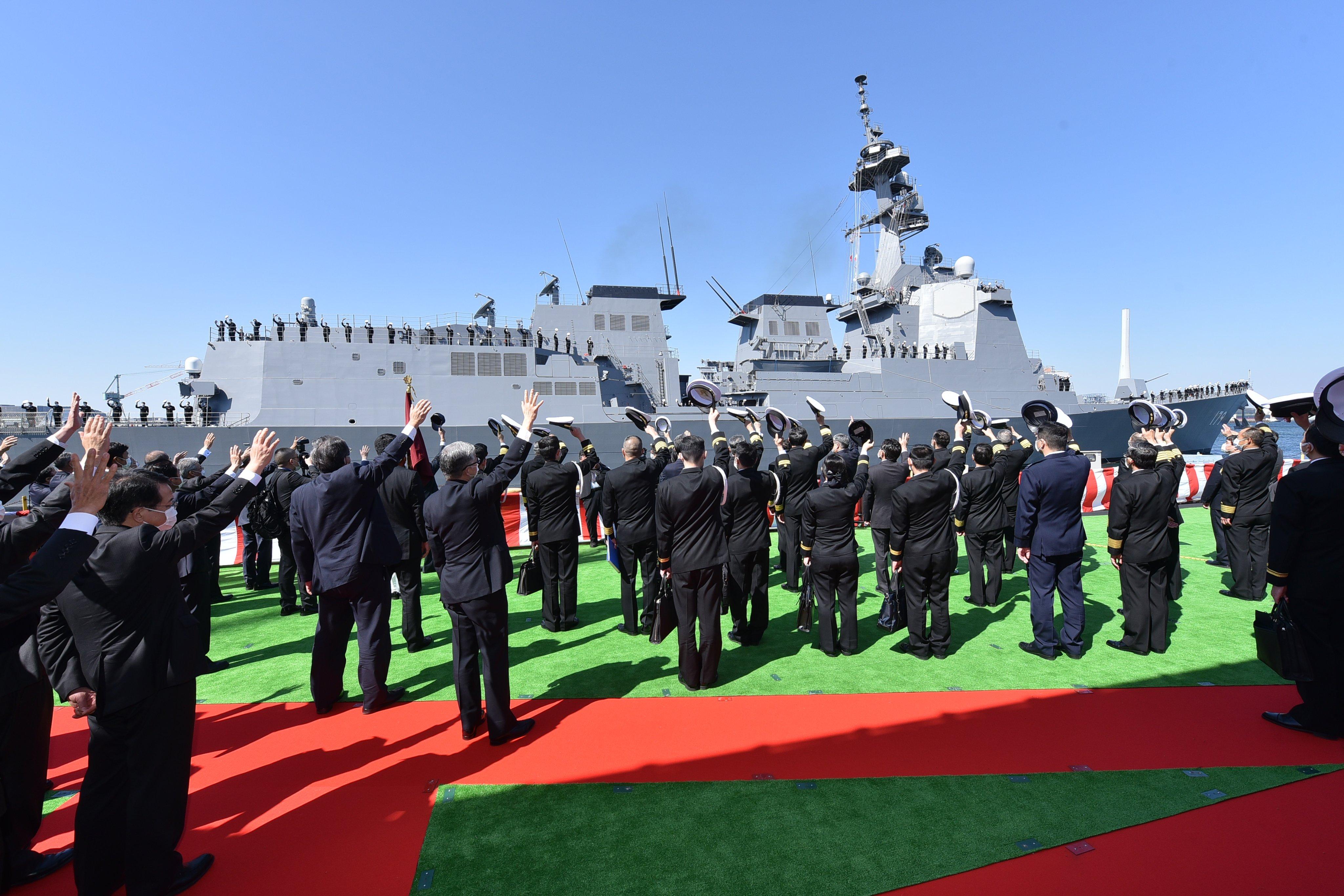 Япония ввела в строй новый эсминец / Twitter - Japan Maritime Self-Defense Force