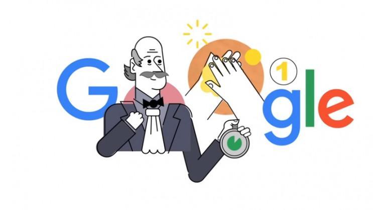 Google посвятил свой дудл от 20 марта акушеру Игнацу Земмельвейсу, который является основоположником асептики