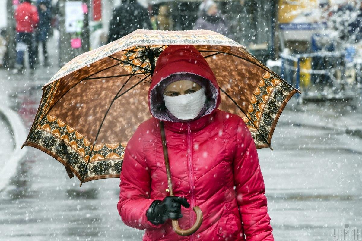 Завтра в Украине возможен мокрый снег и днем до -3 / фото УНИАН