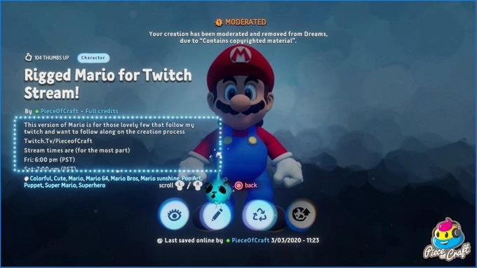 Mario, которого создали в Dreams / twitter.com