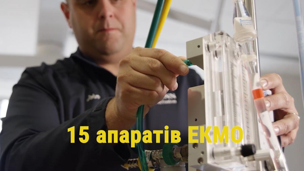 На всю Україну є лише15 апаратів ЕКМО