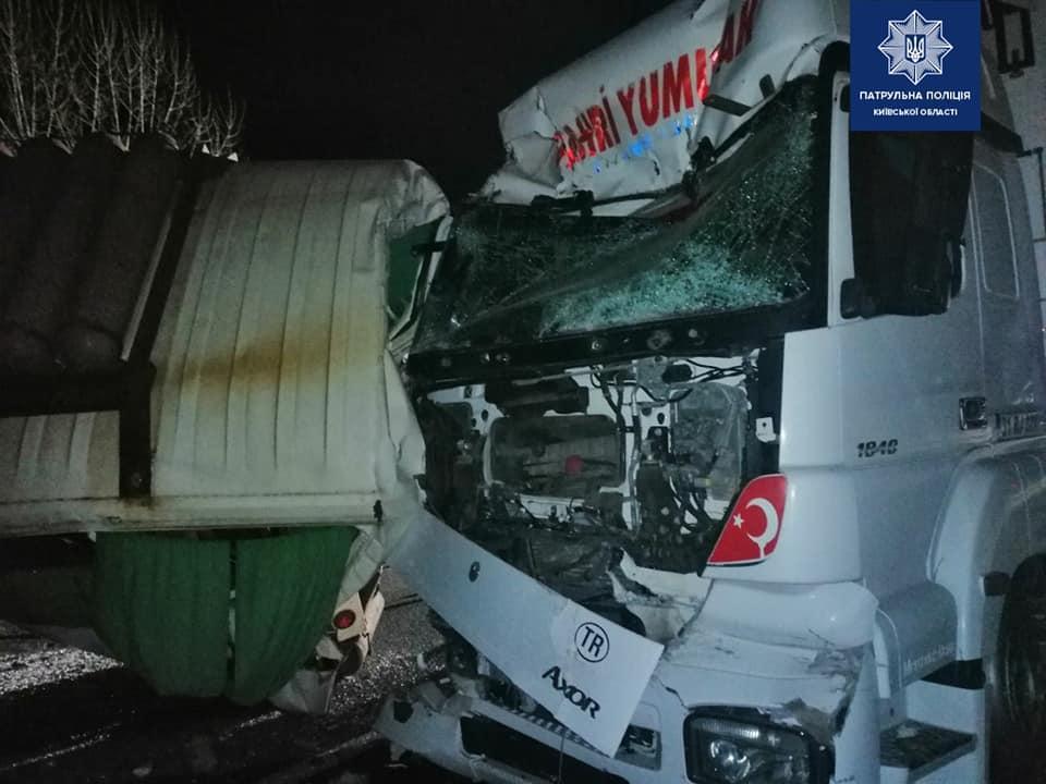 Авария произошла на трассе Киев-Одесса / Фото: Патрульная полиция Киевской области
