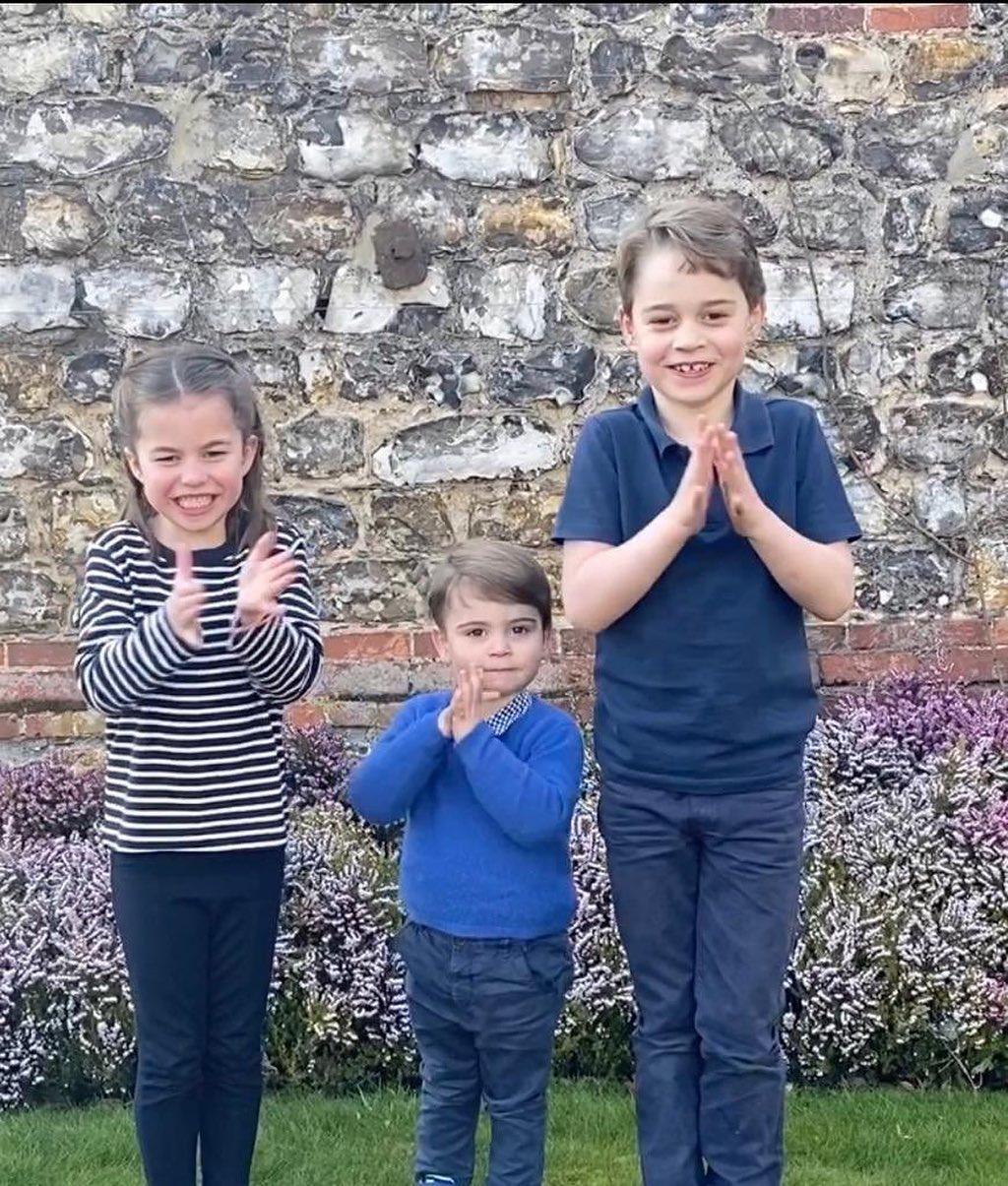 Діти герцогів Кембриджських поплескали лікарям у зворушливому відео / скрін відео
