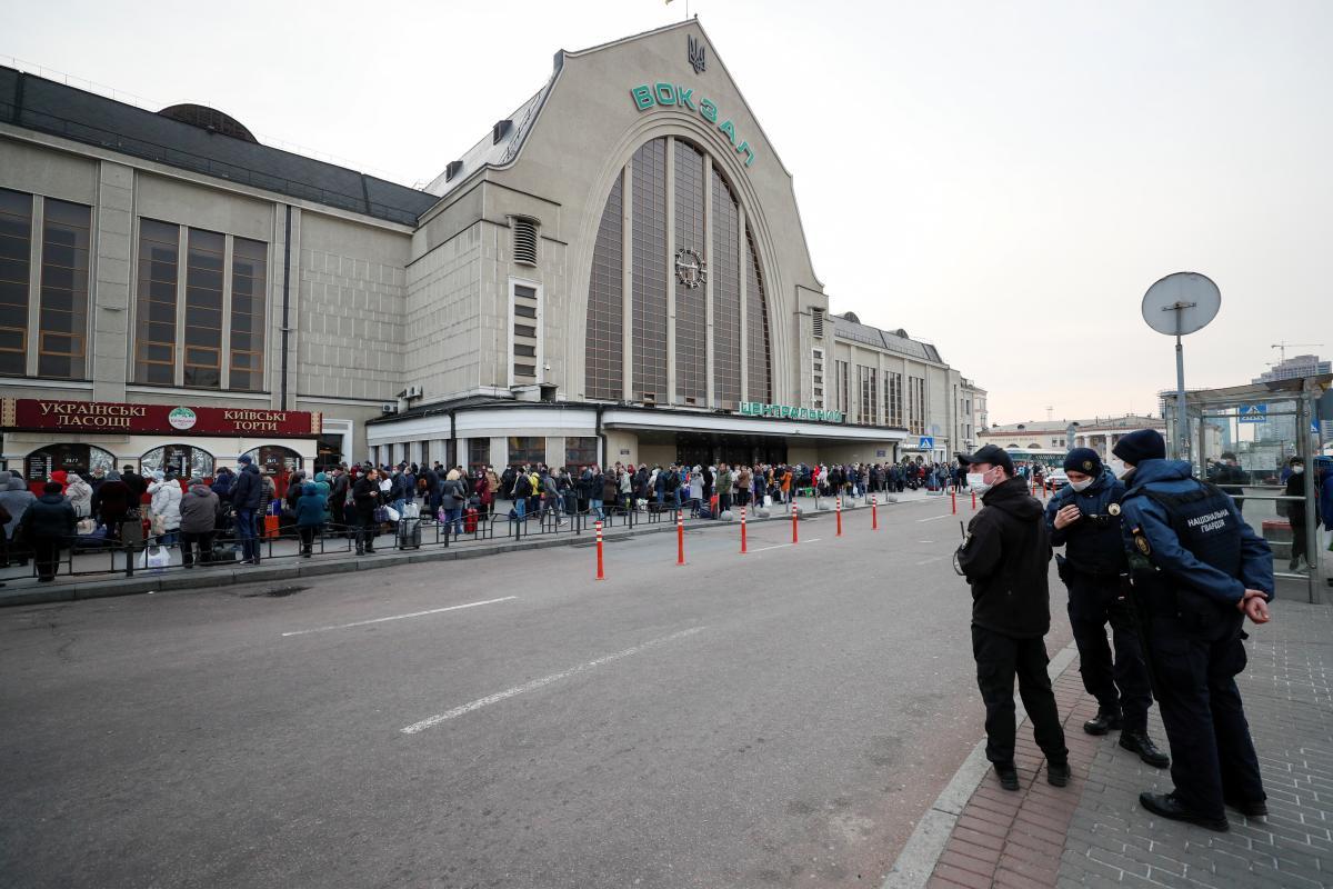 Вокзал Киева / REUTERS