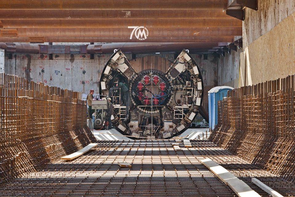 Будівельники показали гігантську машину для тунелів / фото facebook.com/Kyivmetrobud
