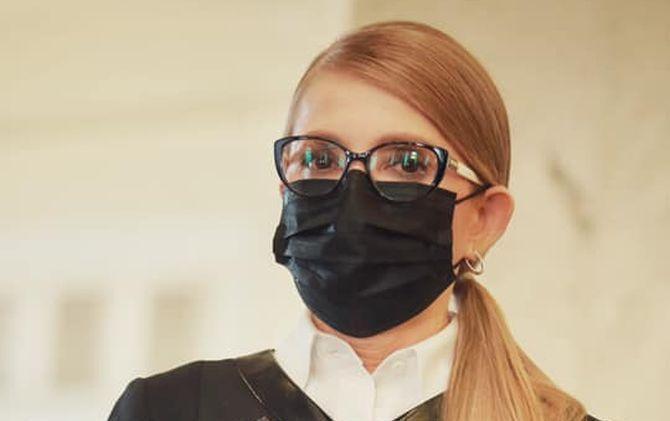 Юлия Тимошенко надела черную маску / фото: facebook.com/yan.dobronosov