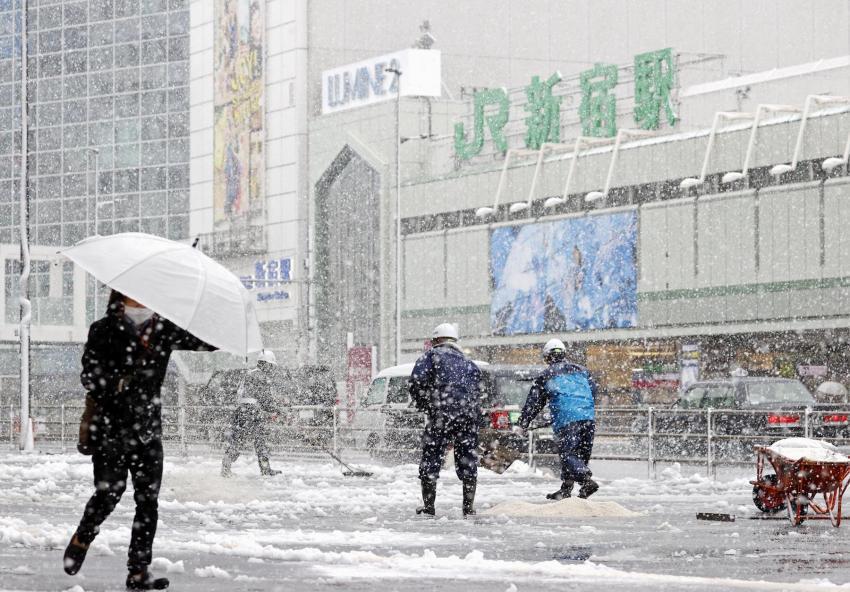В Японии выпал снег / KYODO