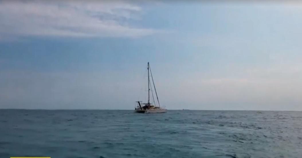 Украинские яхтсмены во время карантина прорываются домой / скриншот